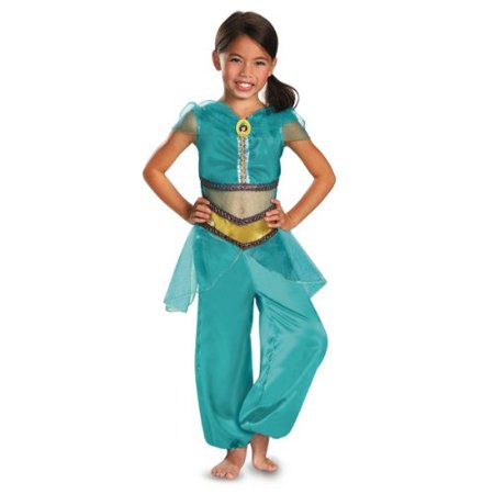 Disguise Disney Aladdin Jasmine Sparkle Classic Girls Costume, - Aladdin And Jasmine Halloween Costumes For Couples