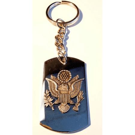 Presidential Army American Usa Seal Pewter Emblem Logo Symbols - Key Ring Chain (Pewter Seal)