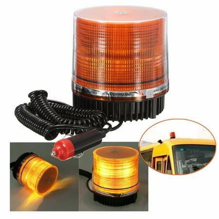 Grtsunsea Car Magnetic Beacon Strobe Emergency Hazard Warning Indicator Flashing Light Amber Lamp 12V LED Truck School Bus SUV Van (Emergency Strobe Beacon)