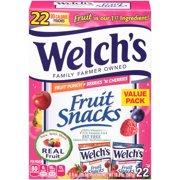 Welch's Fruit Snacks, Fruit Punch & Berries 'N Cherries, 0.9 Oz, 22 Ct
