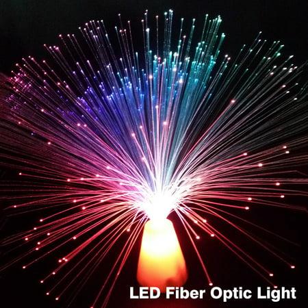 Multicolor LED Fiber Optic Lamp Light Luminous Wedding Christmas Star Party Home Decor Gift - Fiber Optic Colors