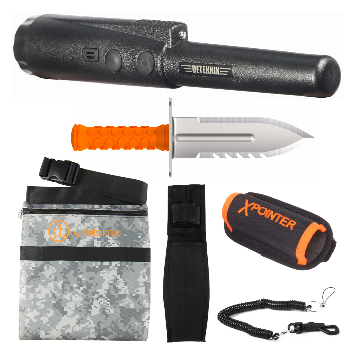 Quest xPointer Land - Black, Digital Camo Pouch & Diamond Digger Tool Right