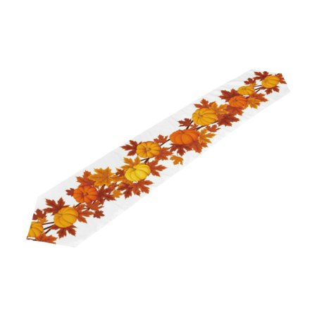 Fall Wedding (POPCreation Thanksgiving Holiday Table Runner 13x90 Inch, Pumpkin Fall Leaves Table Cloth Runner for Kitchen Wedding Party)