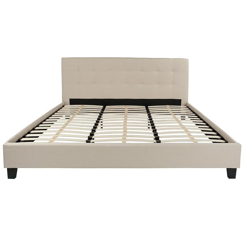 Twin Platform Bed-Light Gray - image 3 de 6