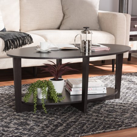 Baxton Studio Jacintha Modern and Contemporary Wenge Brown Finished Coffee Table