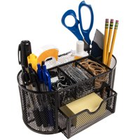 Simply Genius Office Supplies Computer Desk Organizer With Drawers Office Desk Accessories Pens Pencil Holder Black