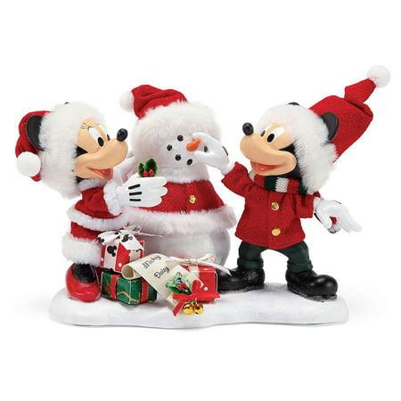 Possible Dreams Disney Mickey and Minnie Snow Santa #6000684