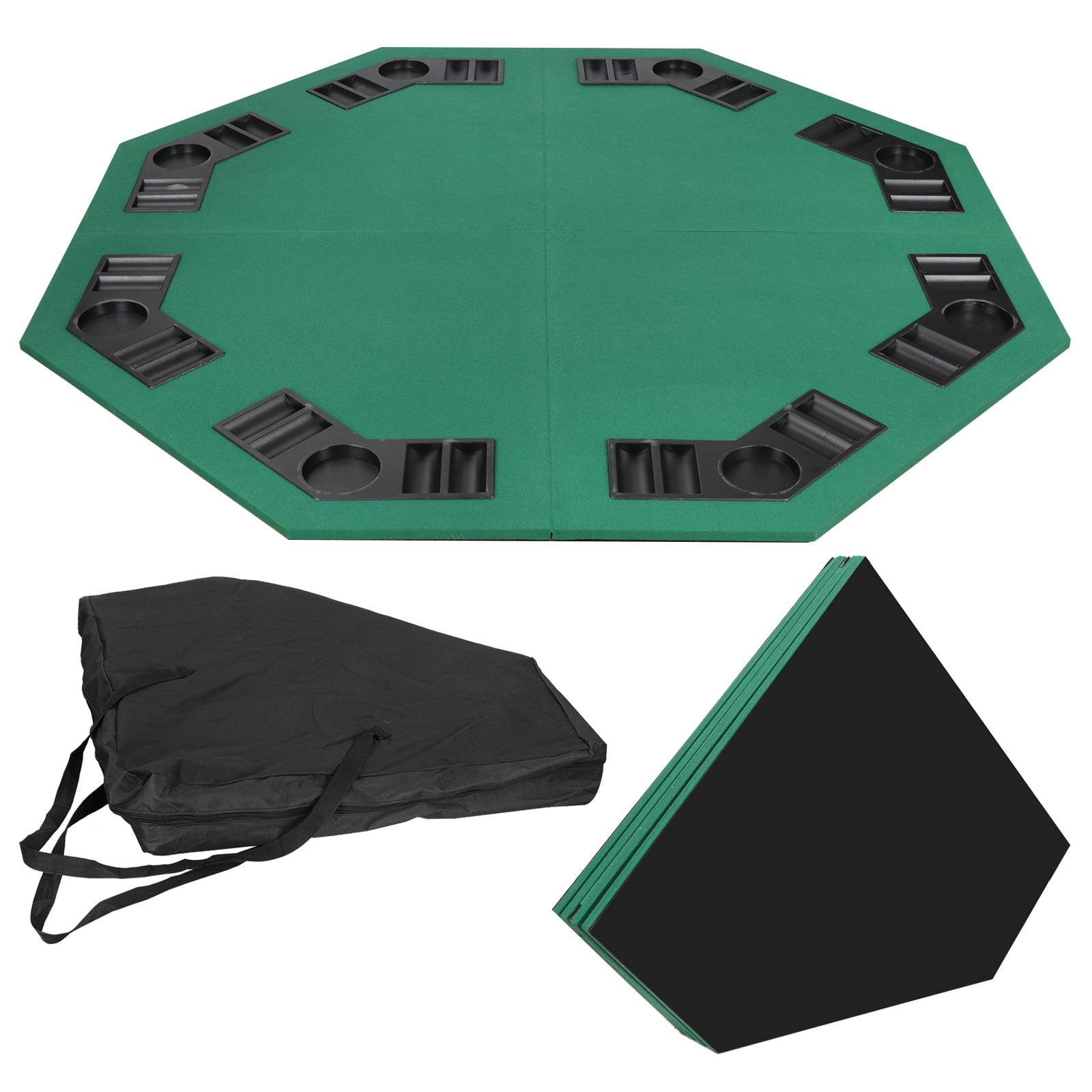 Zeny 48 Green Octagon 8 Player Four Fold Folding Poker Table Top Carrying Case Walmart Com Walmart Com