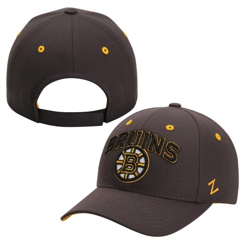 Boston Bruins Zephyr Signature Structured Adjustable Hat - Gray - OSFA