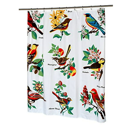 Fabric Aviary (BenandJonah Collection Fabric Shower Curtain 70 x 72
