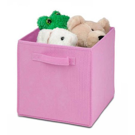 Honey Can Do Non-Woven Foldable Storage Cube, Pink