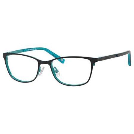 550 Eyeglasses (Liz Claiborne 436 Eyeglasses 0JFU 50 Black Turquoise )