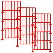 Set of 12 Red Guardrails for WWE Wrestling Action Figures