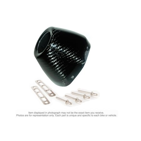 FMF Racing 040643 End Cap Kit for Factory 4.1RCT - Carbon Fiber