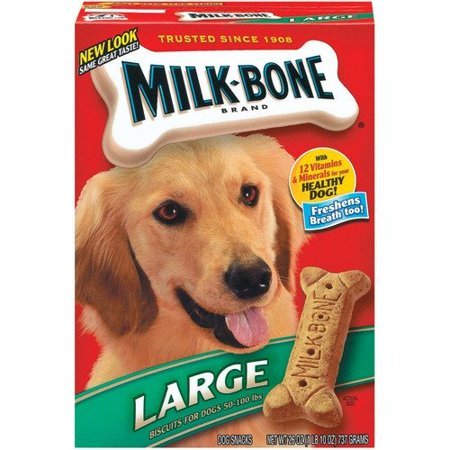 Milos Kitchen Milk Bone Dog Biscuit Large 12/26 Oz - Walmart.com