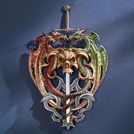Design Toscano Hell-Bent Dragon Protectors of the Sword Wall (Dragon Wall Swords)