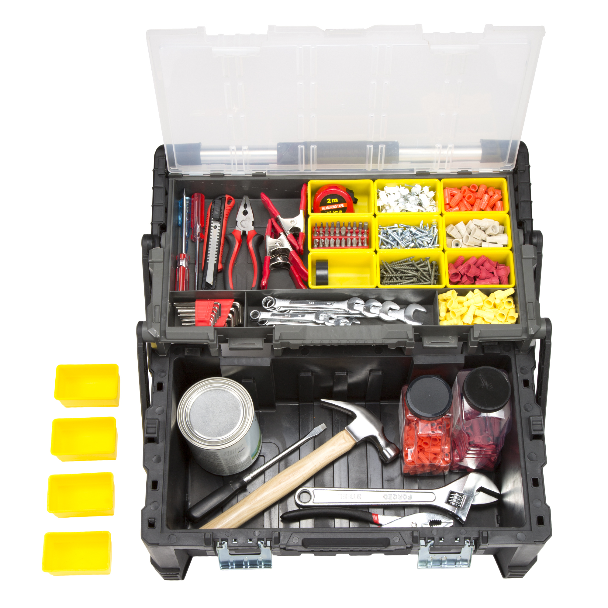 "22"" Parts & Crafts Tiered Storage Tool Box by Stalwart"