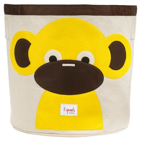 Image of 3 Sprouts Monkey Storage Bin