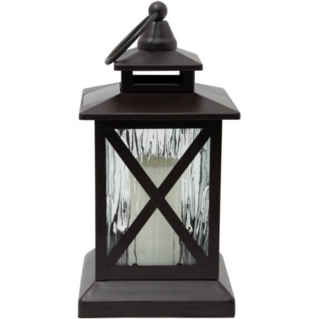 Better homes gardens metal and rain glass solar lantern - Better homes and gardens solar lights ...
