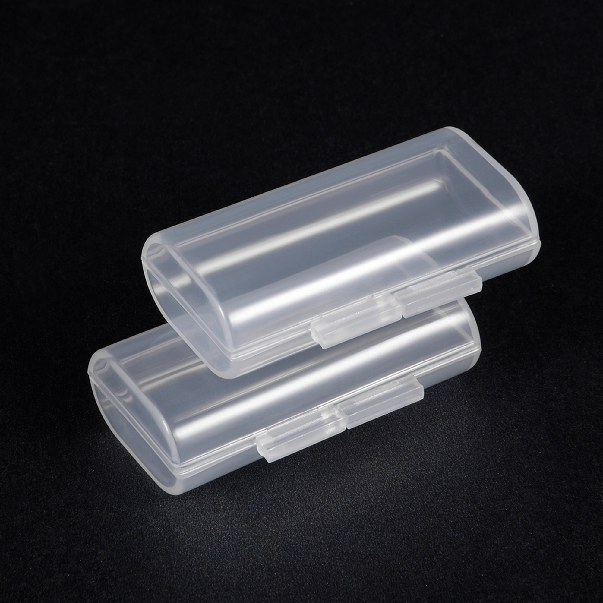Battery Storage Case Holder Transparent For 2 x AAA Battery Capacity - image 3 de 5