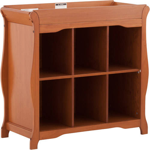Storkcraft Aspen 6-Cube Organizer and Changing Table, Choose Your Finish