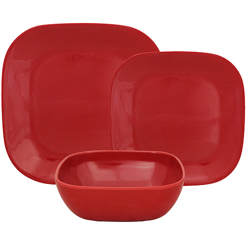 This button opens a dialog that displays additional images for this product with the option to zoom in or out.  sc 1 st  Walmart.com & Gourmet Home Products Rounded Square Melamine 12-Piece Dinnerware ...