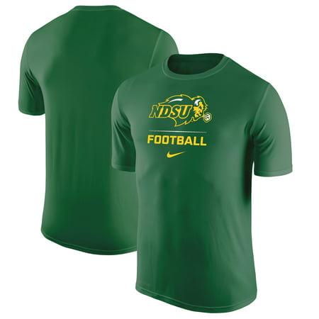 NDSU Bison Nike Football Sport Legend Performance T-Shirt - Green