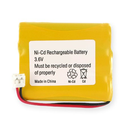 Ge Replacement Battery - GE 5-2459 Cordless Phone Battery Ni-CD, 3.6 Volt, 600 mAh - Ultra Hi-Capacity - Replacement for GE Rechargeable Battery