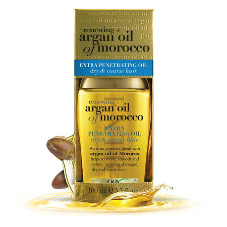 OGX Renewing Moroccan Argan Oil Extra Strength Penetrating Oil for Dry/Coarse Hair, 3.3