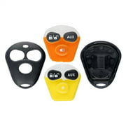 KeylessOption Keyless Entry Remote Control Starter Car Key Fob Case Shell Outer Cover 2 Button Pads For Viper Aftermarket Alarm