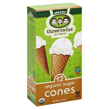 Three Twins Ice Cream Three Twins  Sugar Cones, 12 ea (Sugar Cone)
