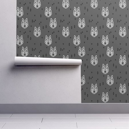 Peel-and-Stick Removable Wallpaper Wolf Wolf Baby Boy Wild Wolves Grey Wolf](Halloween Wolf Wallpaper)
