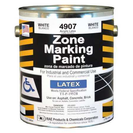 rae traffic zone marking paint,3.78l,white