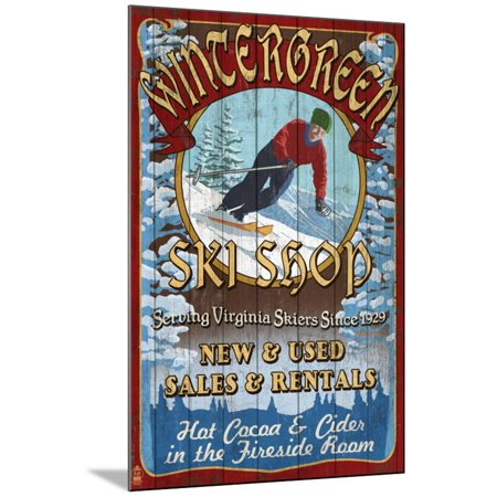 Wintergreen, Virginia - Ski Shop Wood Mounted Print Wall Art By Lantern Press](Art Shops)