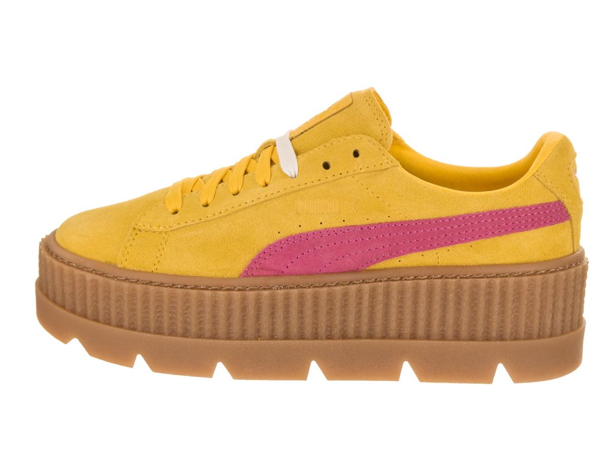 419059ea0b4 PUMA - Puma Women s Cleated Creeper Suede Lemon   Carmine Vanilla Ice  Ankle-High Fashion Sneaker - 7M - Walmart.com
