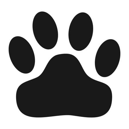 Wild Cat Paw Print Stencil - 3 inch - 7.5 mil - Printable Halloween Cat Stencil