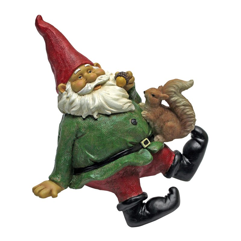 Design Toscano Osbert the Garden Gnome Shelf Sitter Statue by Design Toscano