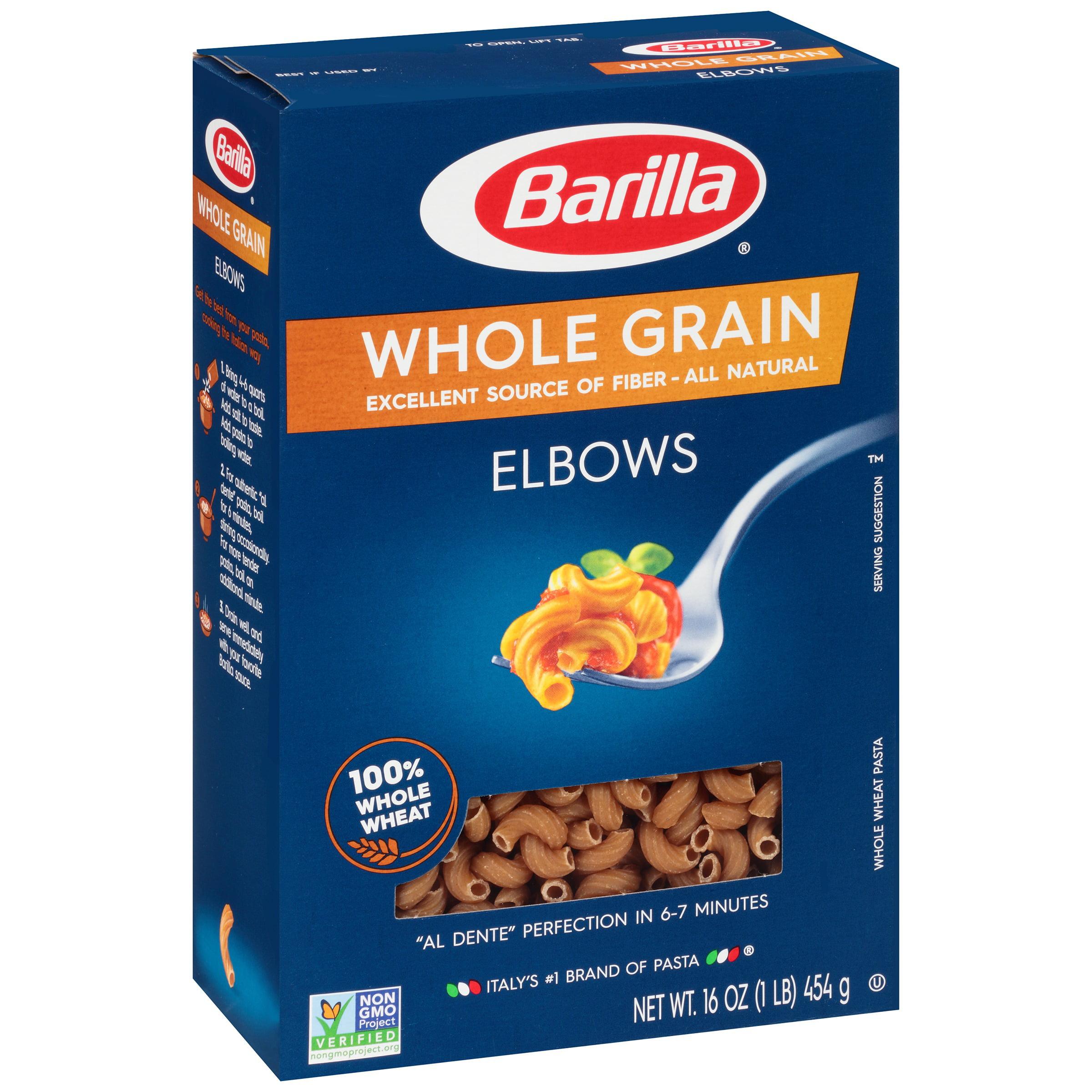 Barilla Whole Grain Elbows Pasta 16 Oz Box Walmart