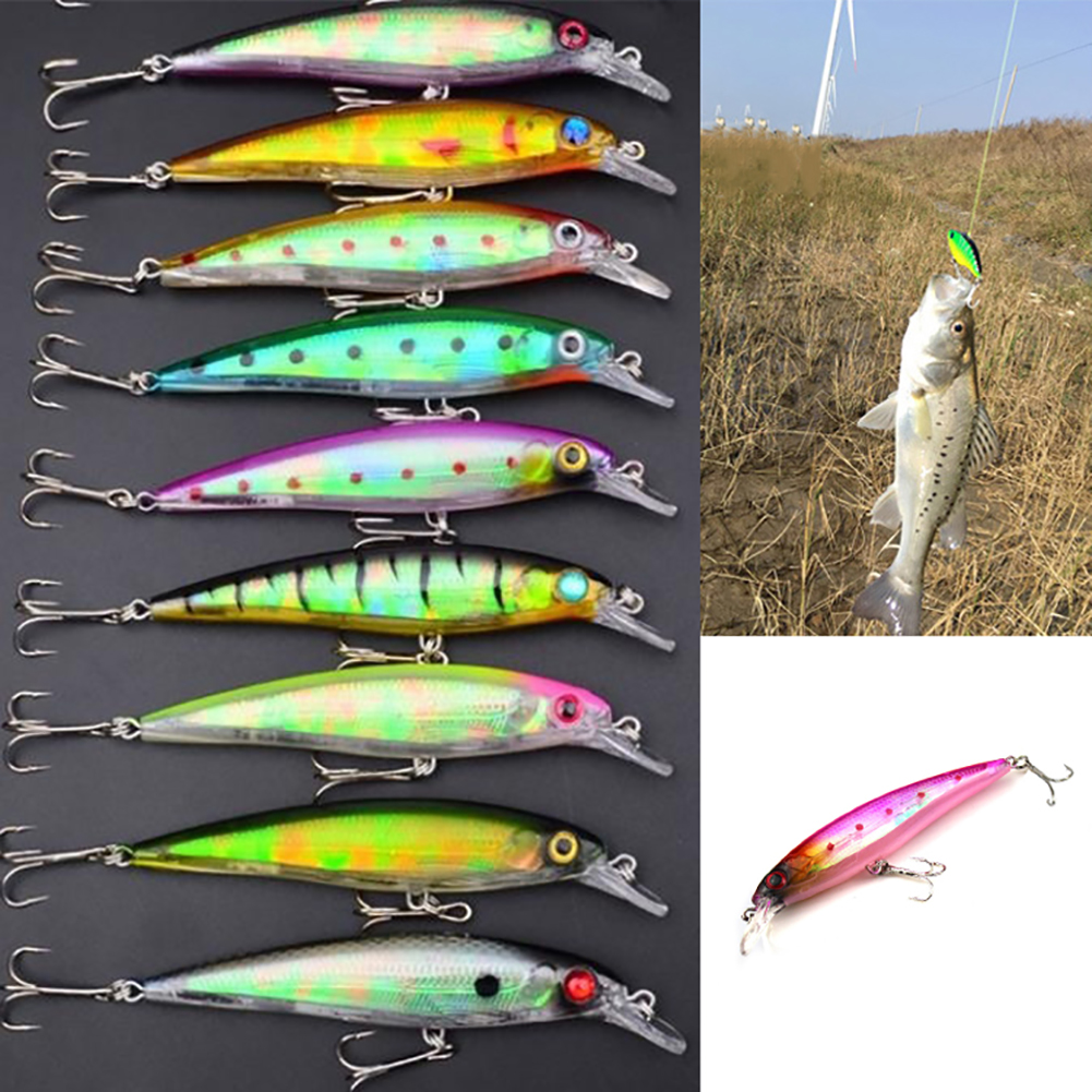 Girl12Queen 11cm 13.4g Minnow Fishing Lure Bass Hard 6# Hook Tackle Plastic Bionic Bait by 2.93