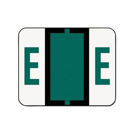 Smead Bccr Bar (Smead 67075 Dark Green BCCR Bar-Style Color-Coded Alphabetic Label - E SMD67075 )