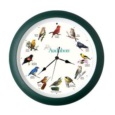 Audubon Singing Bird Clock 8 Inch Green Walmart Com