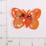"Expo Int'l 2 1/8"" x 1 1/2"" Butterfly Sequin Applique"