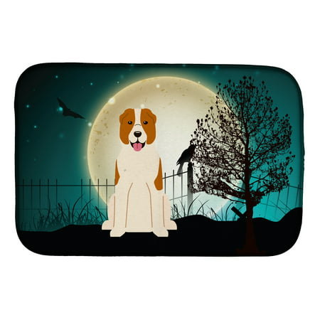 Halloween Scary Central Asian Shepherd Dog Dish Drying Mat
