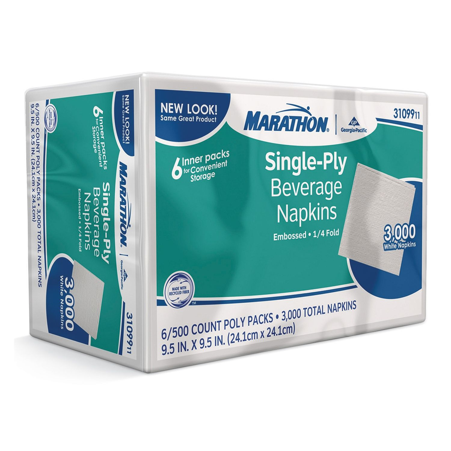 Marathon Beverage Napkins - 3,000 ct.
