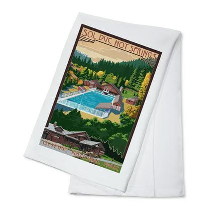 Sol Duc Hot Springs, Olympic National Park, Washington - Lantern Press Poster (100% Cotton Kitchen - Washington String