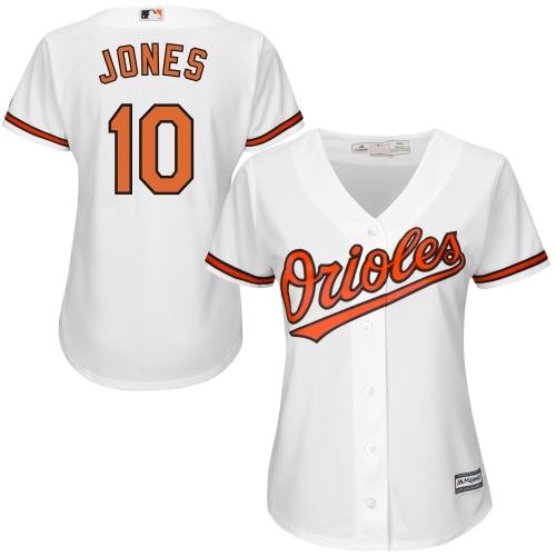 Adam Jones Baltimore Orioles Majestic Women's Cool Base Player Jersey White by MAJESTIC LSG