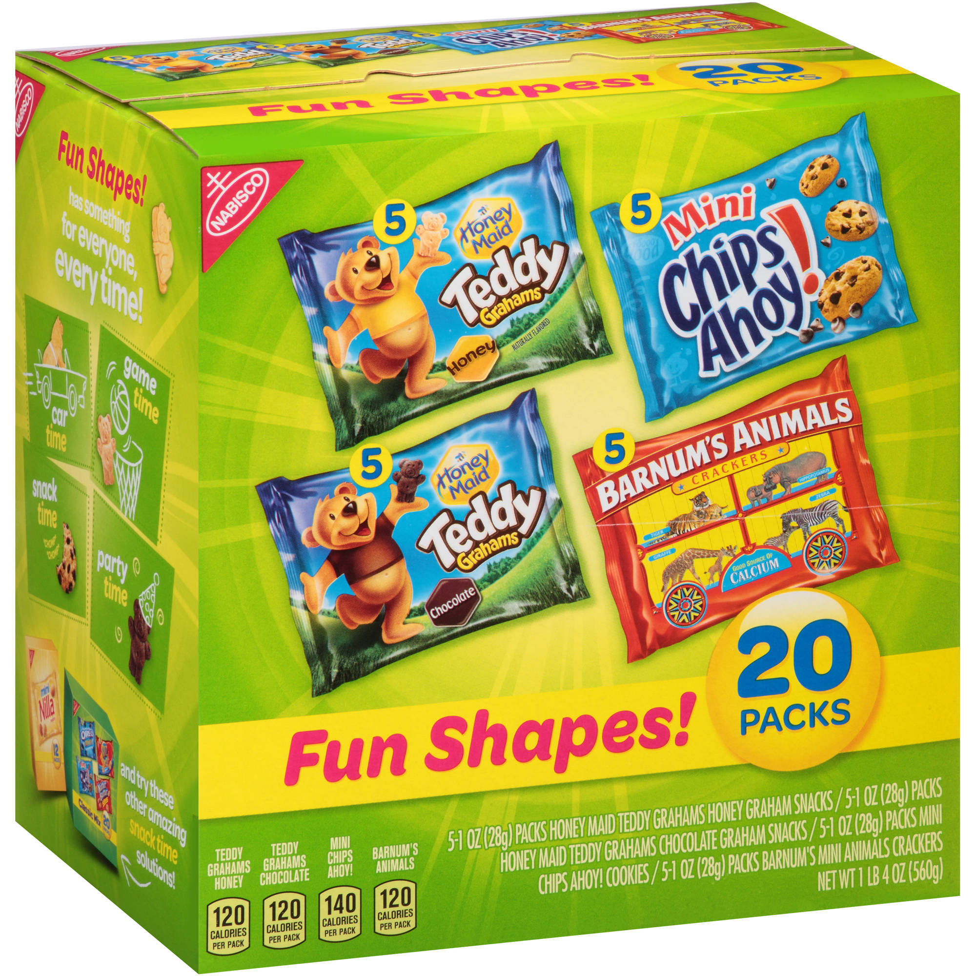 Nabisco Fun Shapes! Cookies & Crackers Variety Pack, 1 oz, 20 count