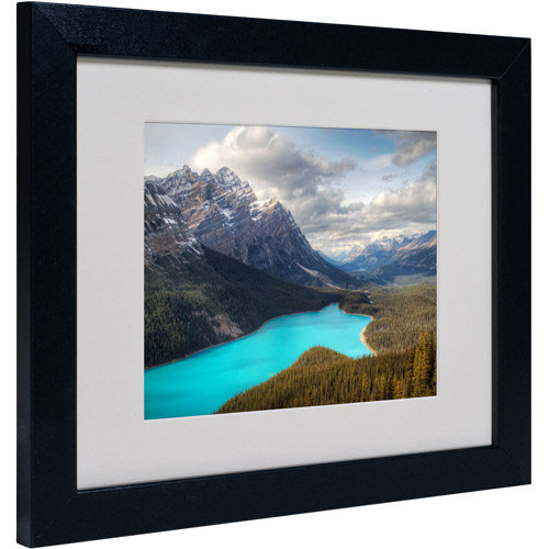 "Trademark Fine Art ""Peyto Lake"" Matted Framed Art by Pierre Leclerc"