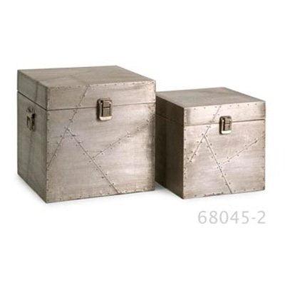 Jensen Aluminum Clad Boxes - Set of 2
