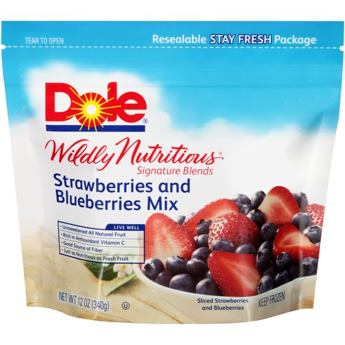 Dole Wildly Nutritious Strawberries and Blueberries Mix Mixed Fruit, 12 oz